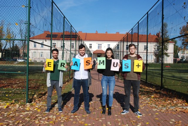 Foreign students staying in PWSTE within the Erasmus+ Programme in the academic year 2017/2018