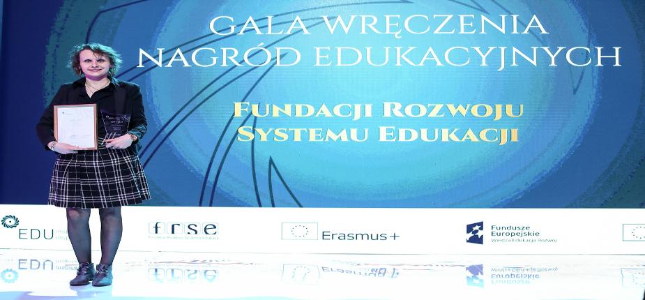 Magdalena Bojarska zwycięzcą tegorocznego konkursu EDUinspirator 2019 w kategorii szkolnictwo wyższe