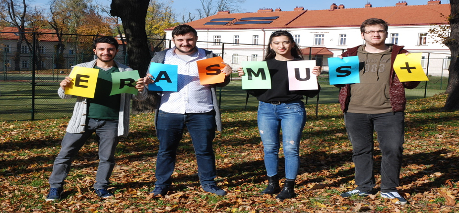 Foreign students staying in PWSTE within the Erasmus+ Programme in the academic year 2017/2018 (autumn semester)