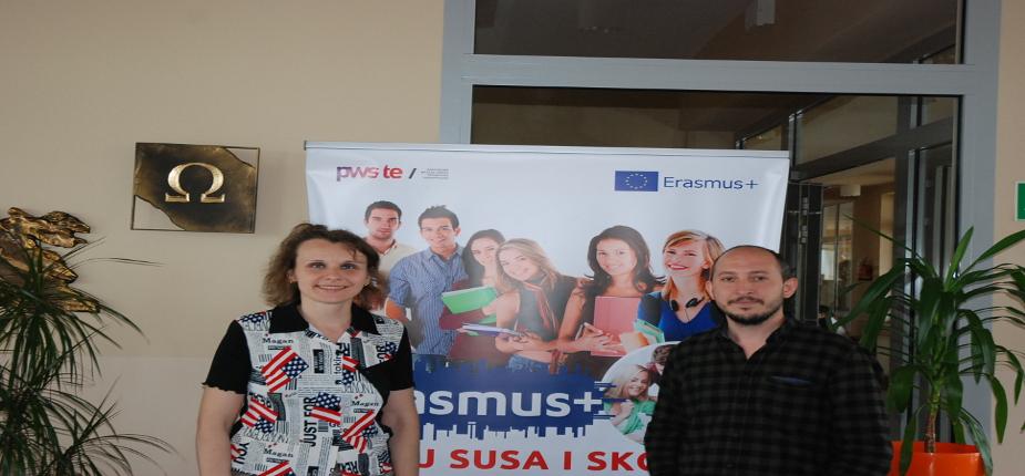 Naukowiec z Afyon Kocatepe University z wizytą w PWSTE w Jarosławiu w ramach Erasmusa+