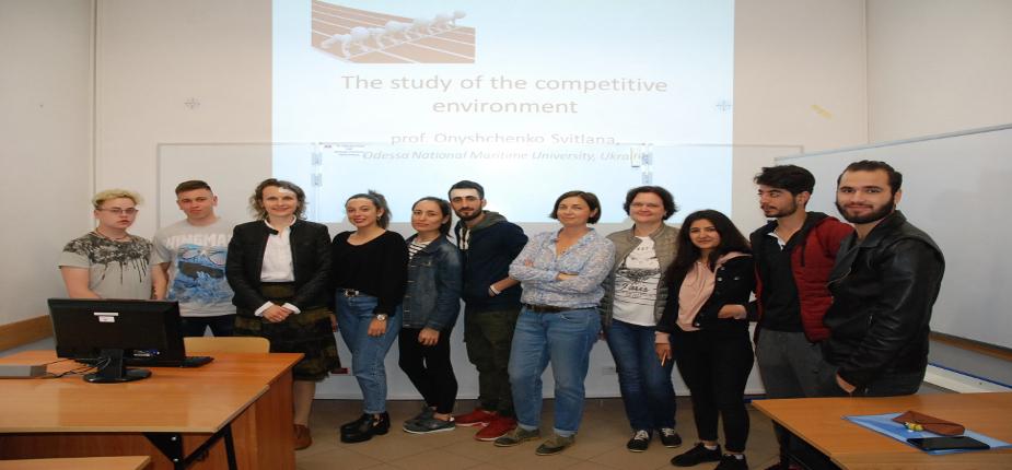 Delegacja z Odeskiego Narodowego Uniwersytetu Morskiego w jarosławskiej PWSTE w ramach programu Erasmus+